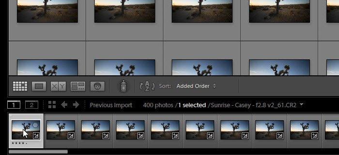 Lightroom screenshot of images on LRTimelapse