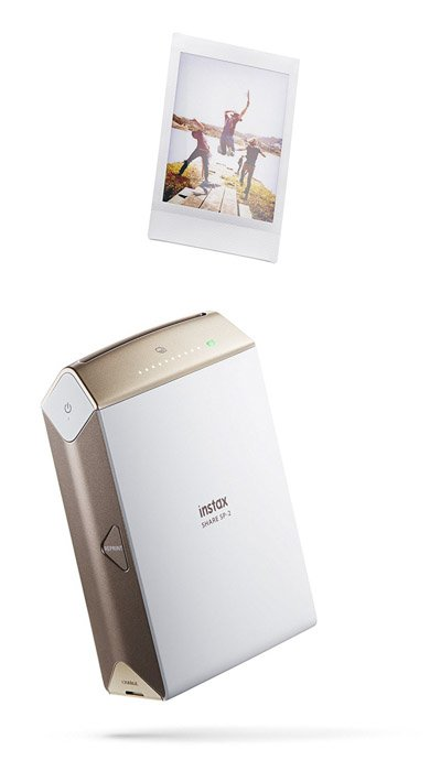 Image of an Instax instant camera printer and instant photo