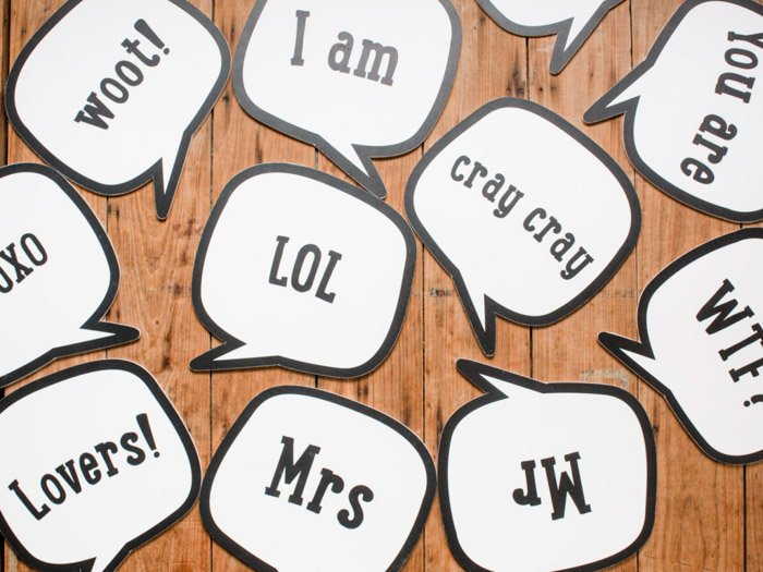 an image showing various examples of speech bubbles