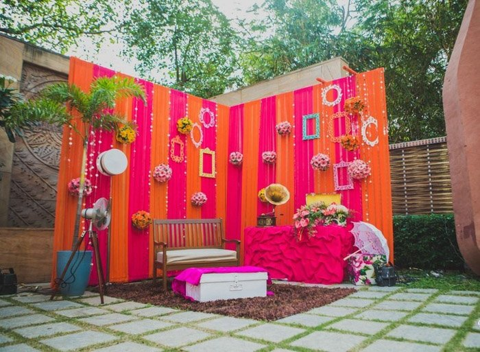 an image of a neon themed wedding photo booth