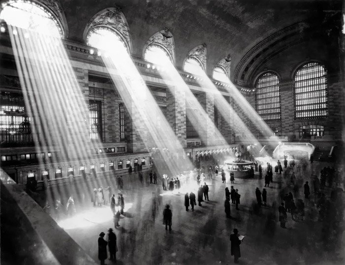 Brassaï black and white photo of the inside of a train station - most famous photographers ever