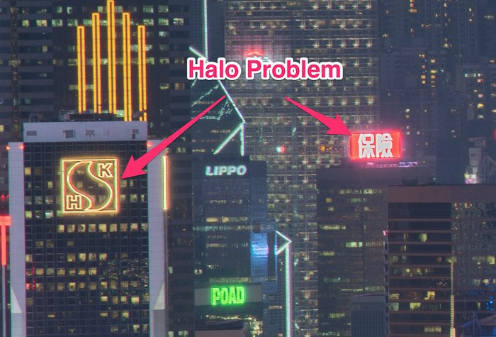 Screenshot of preventing and fixing halo problem with luminosity masks using blending in photoshop