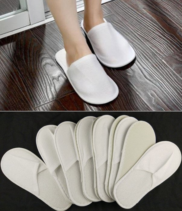 Diptych photography of white slippers to be used for a boudoir shoot