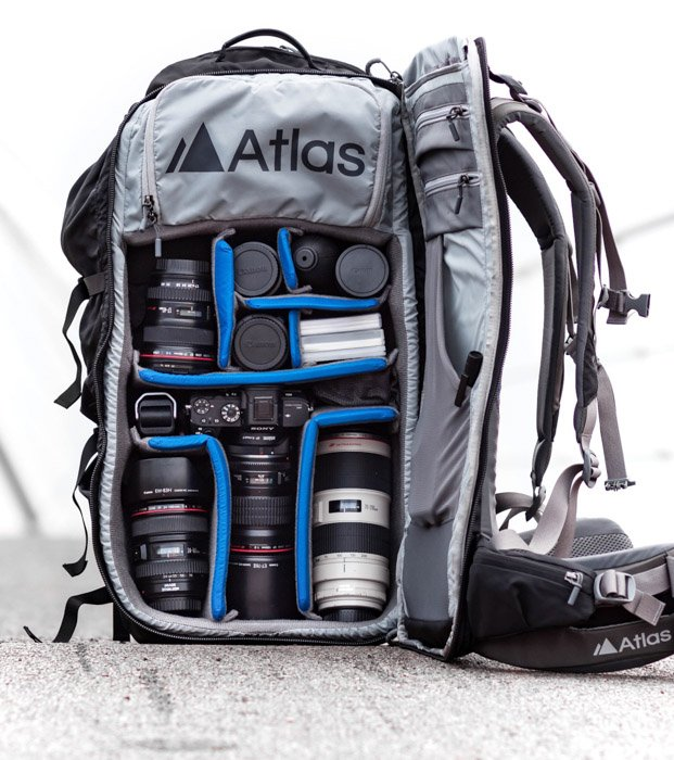 Adventure camera backpack by Atlas Packs