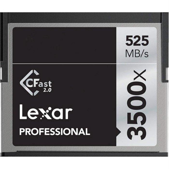 Lexar 32GB Professional 3500xmemory card on white background
