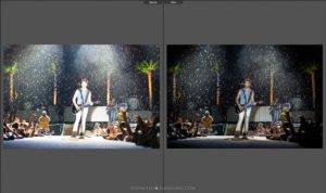 concert photography editin