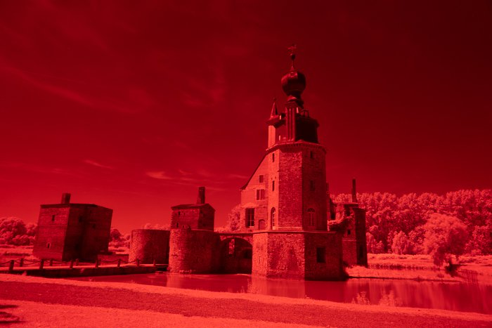 An infrared image taken with the HOYA R72 filter.