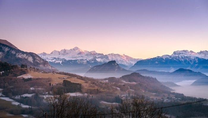 Stunning mountainous landscape shot