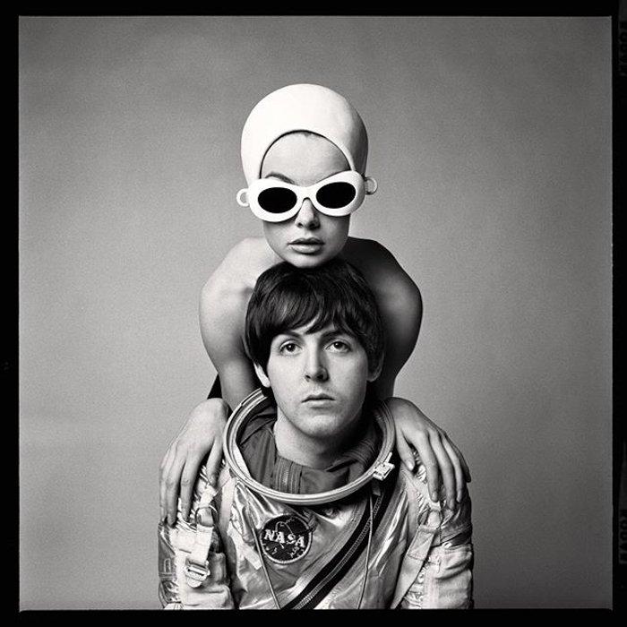 Richard Avedon portrait of Paul McCartney and Jean Shrimpton
