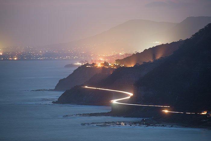 evening coastal landscape