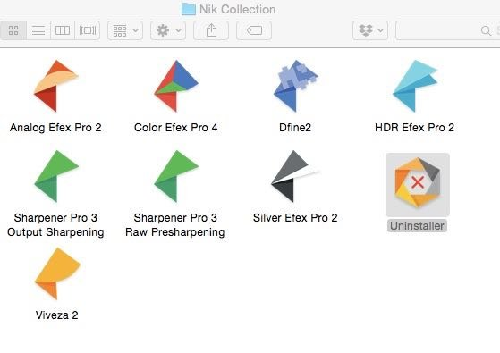 Screeshot of the nik collection for editing travel images