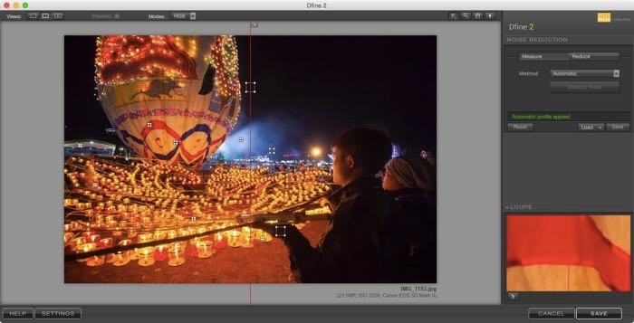 Screenshot of editing a travel image in Lightroom