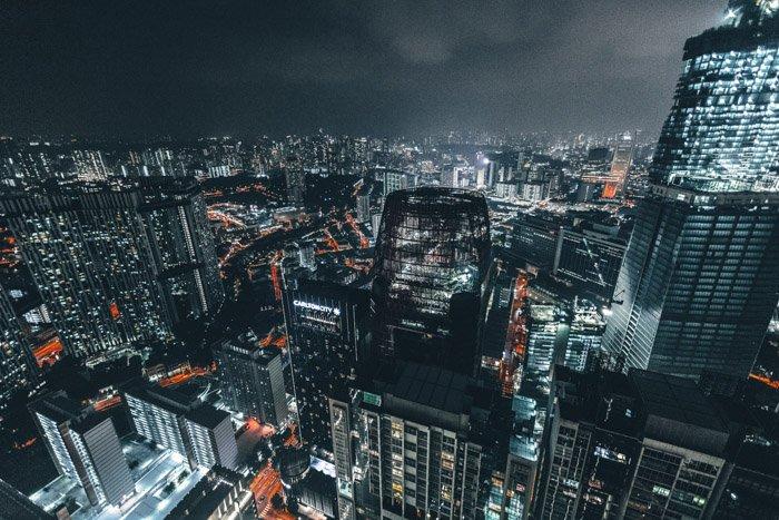 Stunning cityscape photo at night