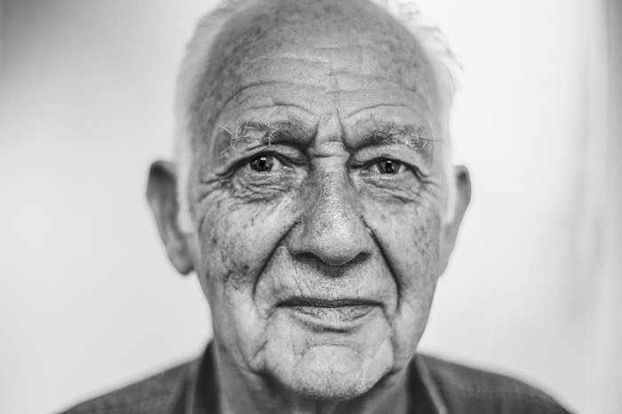close up portrait of an old man