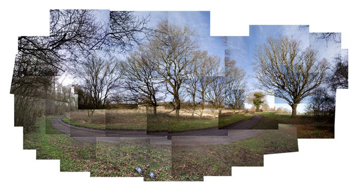 A photo montage comprising of many images creating a large landscape image