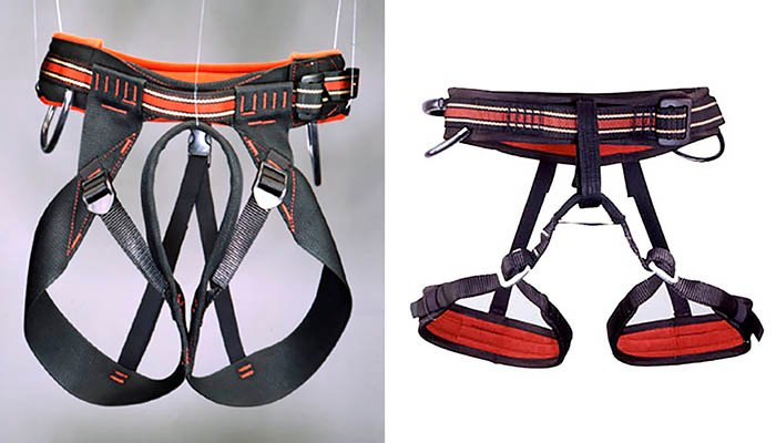 An magazine advertisement for harnesses - different types of product photography