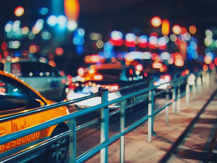 Photo of cars and street lights using bokeh in photography