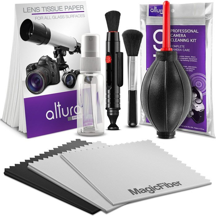 The Altura Photo Professional Lens Cleaning Kit on white background