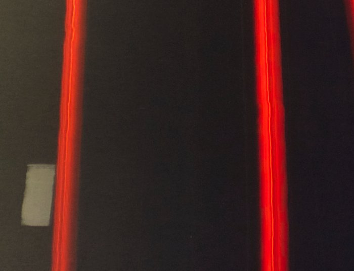 Crop of red trails photography