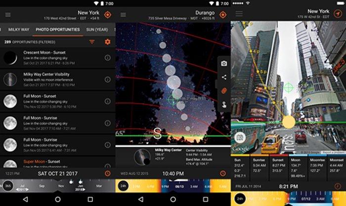 A screenshot of 'Sun Surveyor' Best Landscape App for direction
