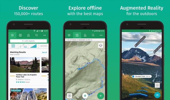 A screenshot of 'viewranger' Best landscape apps for navigating rough terrain