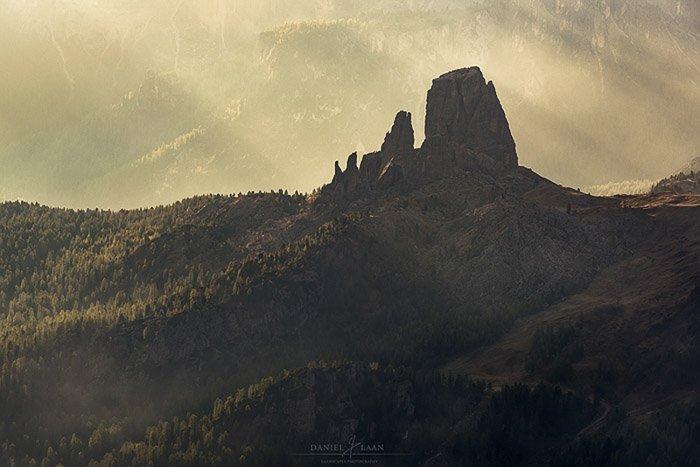 The mountainous area near Cinque Torri in the Italian Dolomites