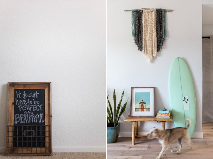 A bright and airy interior photography diptych