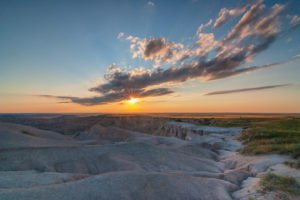 Summer Sunset in the Badlands National Park