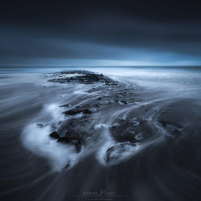 Atmospheric long exposure seascape