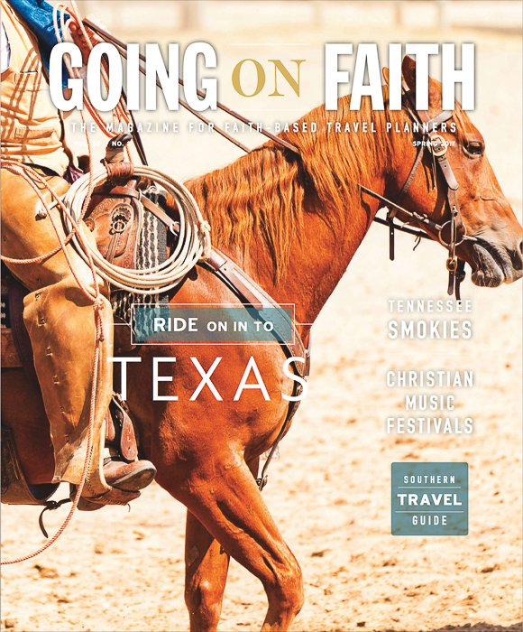 The cover of 'Going on Faith' magazine - tips on submitting photos to magazines
