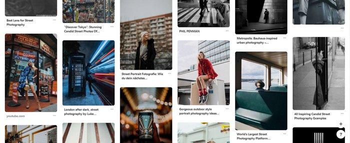 A screenshot of a photography website
