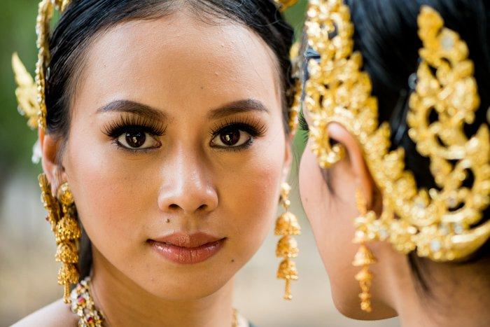 Close up portrait of a beautiful Thai model