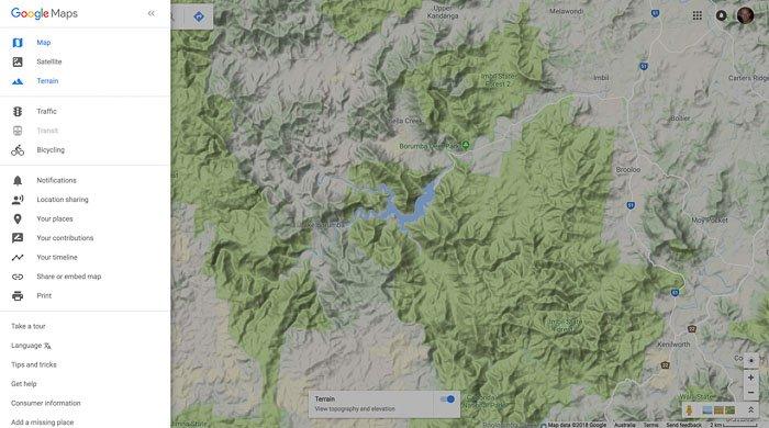 A google mapsscreenshot for drone photography