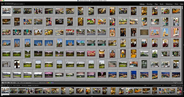 collection of photo in Lightrom