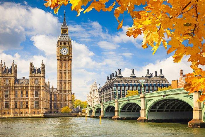 clock tower and bridge in London