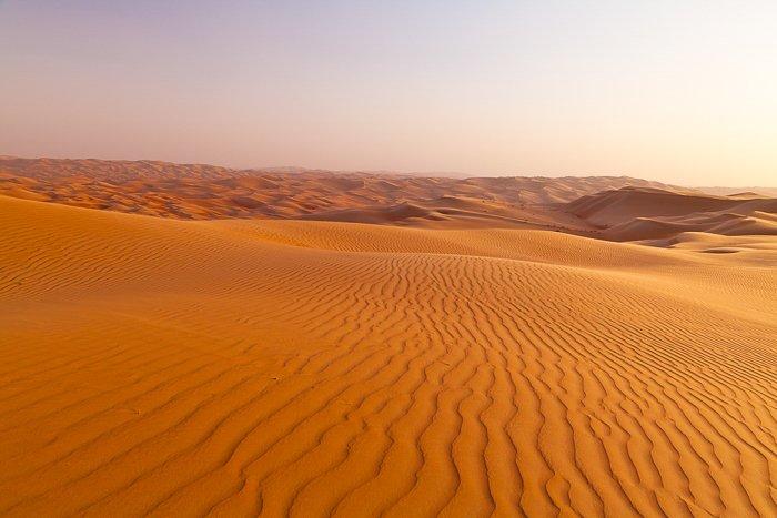 warm orange desert sands in the UAE