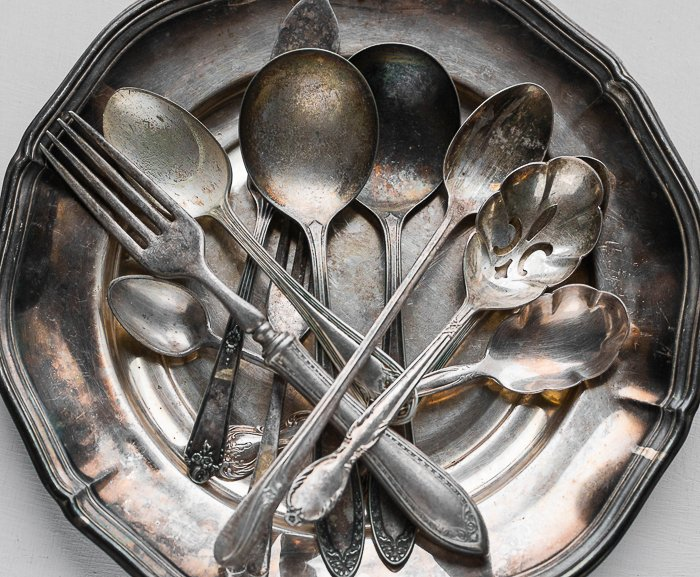 A stock photo of silver cutlery