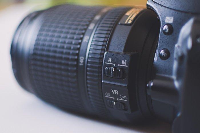 A close up of autofocus mode on a Nikon DSLR