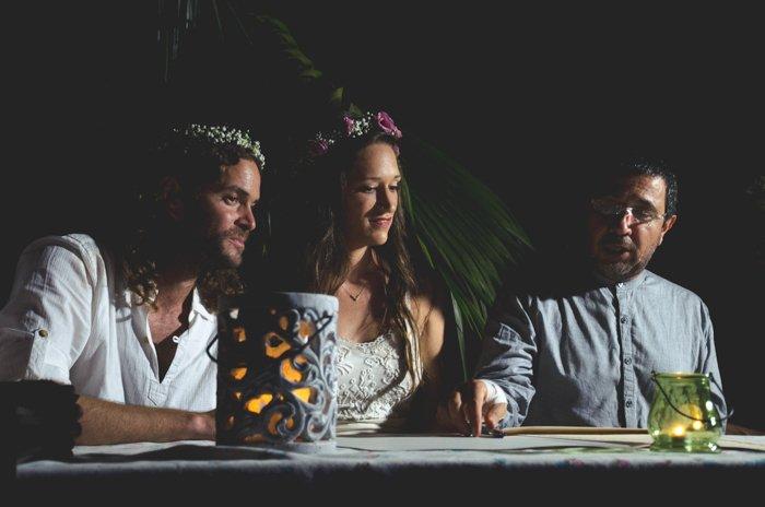A wedding photo in low light shot using autofocus modes