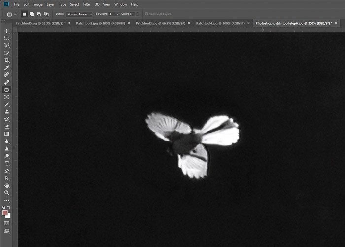 A screenshot of moving shapes in Photoshop