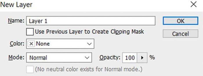 Screenshot of opening a new layer with Photoshop shortcuts
