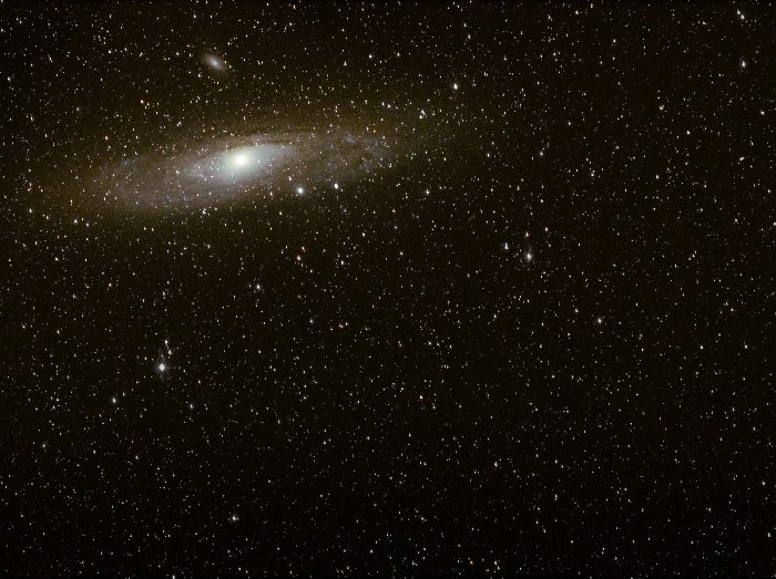 Andromeda, a bit too close to the edge of the frame.