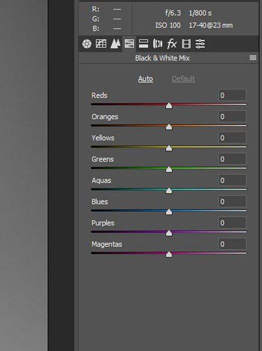 A screenshot of adjusting the HSL sliders on Lightroom