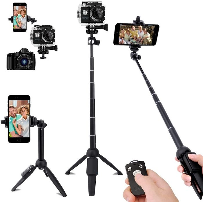 leypin selfie stick and best iphone tripod