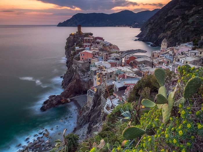 A stunning coastal landscape shot taken from a high angle