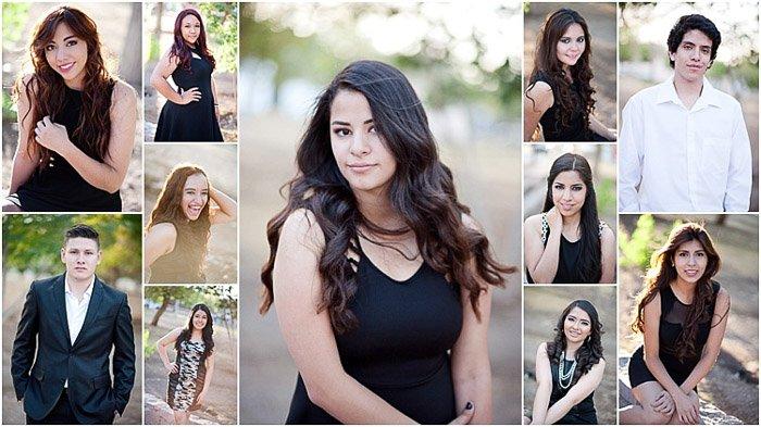 A grid of various senior photos
