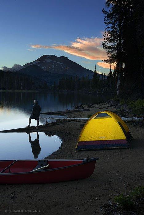 A solo adventure photography shot at South Sister Mountain, Oregon