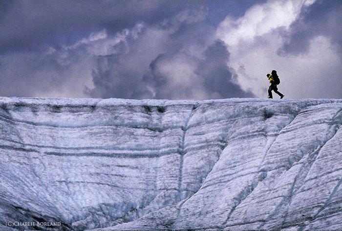 A solo adventure photo of Root Glacier, Wrangell-St. Elias, Alaska