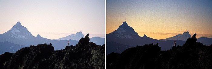 A mountainous landscape diptych at Mt. Washington, Oregon