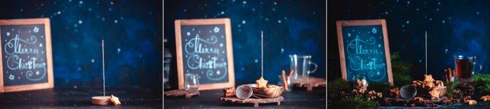 Christmas photos tutorial of shooting levitating christmas cookies